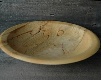 American Elm Shallow Crotch Bowl | Wooden Elm Serving Bowl