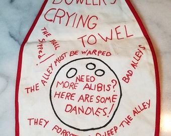 1960s Vintage Bowler's Crying Towel