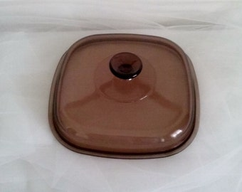 Corning Pyrex Glass Domed Replacement Lid A12C
