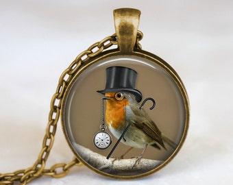 Steampunk Bird - Nature Animal Handmade Pendant Necklace