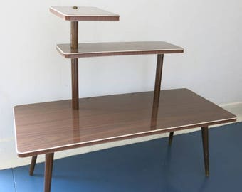 Vintage Mid Century East German 3 Tier Plant Table 20th Century Plant Stand