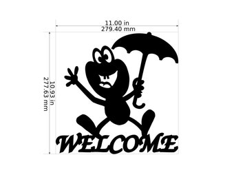 Welcome Waving Frog Garden Decor