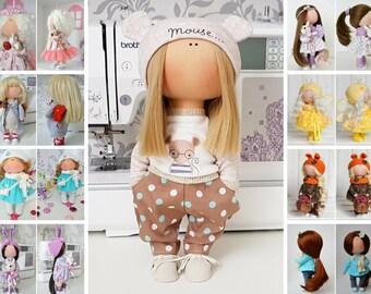 Tilda doll Nursery doll Fabric doll Puppen Interior doll Textile doll Handmade doll Bonita doll Brown doll Cloth doll Bambole by Tanya E