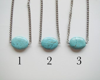 Houlite Turquoise Statement Necklace