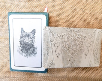 Set of  vintage playing cards- Cairn terrier dog