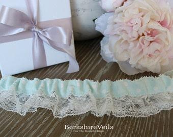 Something Blue dotty wedding Garter | Wedding Garter | Bridal Garter | Something Blue Garter
