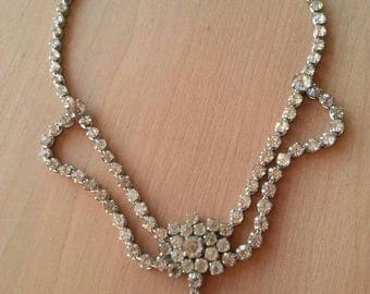 Vintage Crystal necklace Victorian