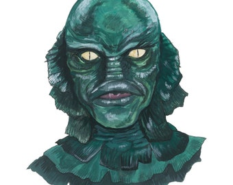 The Creature from the Black Lagoon - 8x10 Fine Art Print, 2017 Classic Universal Horror Painting