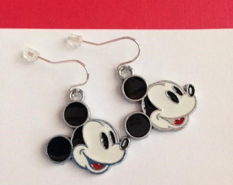 Mickey Mouse Earrings, Mickey Mouse Jewelry, Mouse Earrings, Mouse Jewelry, Ships From USA