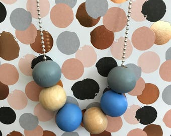 Hand Painted Wood Bead Necklace
