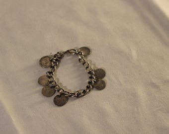 Victorian Silver Love Charm Bracelet