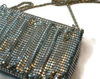 Silver Metal Mesh, Y & S, Shoulder Bag, Metal, Small Purse, Clutch