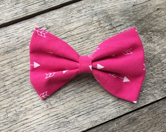 Arrow pink Hair bow