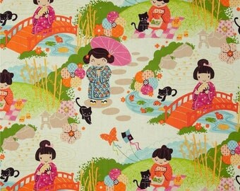 Aoi has 2 Sisters in Orange by Alexander Henry Fabrics by the Yard