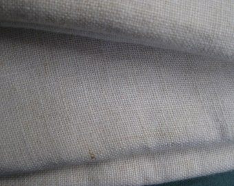 Vintage Quality Tablecloth Heavy Cotton 70's Mid Century  Off White 60 x 52 Excellent Condition