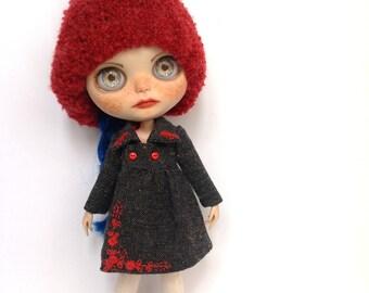Blythe tweed coat dark gray