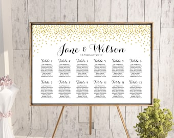 Find your Seat Chart, Printable Wedding Seating Chart, Wedding Seating Poster, Wedding Seating Sign, Wedding Seating Board WC147 th22