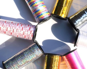 string wrapping striped string Ribbon for Balloons or Ribbons for Wrapping Paper 10m