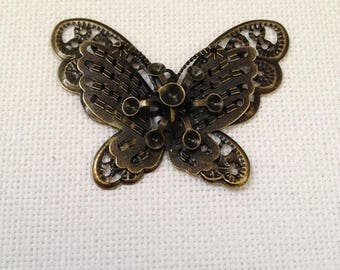 Steampunk Butterfly Needle Minder
