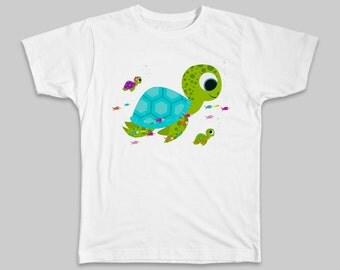 Sea Turtle T-Shirt Whimsical T-Shirt Ocean Animal T-Shirt Sea Turtle Shirt Cute Sea Turtle Tee Kids Gifts Children Shirt Cute Toddler Gift
