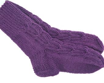 Knitted Socks - Hand Knit Socks - Warm Socks - Knitted Slippers - Cold Feet Socks - Socks Womens - Womens Slippers - Handknit Socks