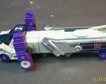 1986  Octane Decepticon Hasbro Transformers G1 Triple Changer Boeing Jet  To Robot To Semi Tanker Truck - Missing Accessories Rare