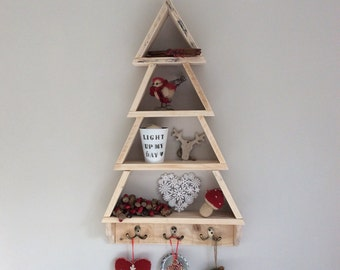 large wood christmas tree pallet christmas tree wall mounted tree handmade xmas tree rustic recycled reclaimed - Wood Christmas Tree