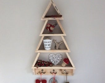 large wood christmas tree pallet christmas tree wall mounted tree handmade xmas tree rustic recycled reclaimed - Wooden Christmas Tree