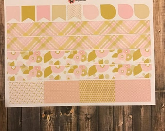 Pink and Gold Collection: Washi & flags