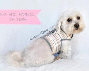 Dog Harness Pattern size XL, Vest Harness, Sewing Pattern, Dog Clothes Pattern, Dog Harness