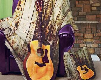 """6 Strings Velveteen 50"""" x 60"""" Velveteen Blanket"""
