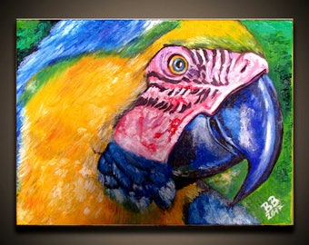 Colours of Brazil Oil Original Painting on canvas with COA