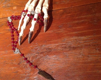 Taxidermy necklace
