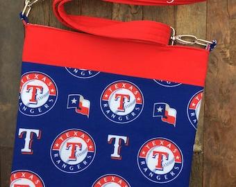 Texas Rangers Baseball Messenger Bag/Cross Body Bag