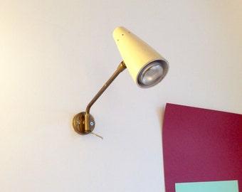 Swing arm wall lamp brass applique Spotlight STILUX STILNOVO 1950s lighting