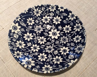 Vintage 1970's Blue And White Country Cupboard Ironstone Saucer, Johnson Brothers English China