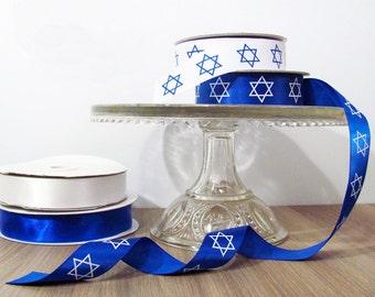 Star of David Ribbon - Hanukkah, Chanukah, Bar Mtizvah, Bat Mitzvah - Gift Wrap Supplies