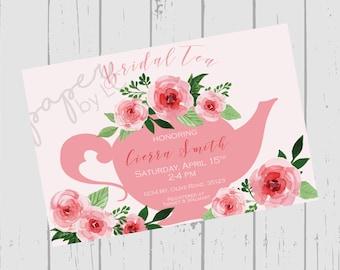 Wedding Bridal Tea/Bridal Teapot Shower Customized Printable Invitation