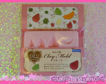 Padico Clay Mold - Fruit (PE) - for Soft Clay, Charms, Accessories, Deco, Kawaii, Crafts, Miniature Food