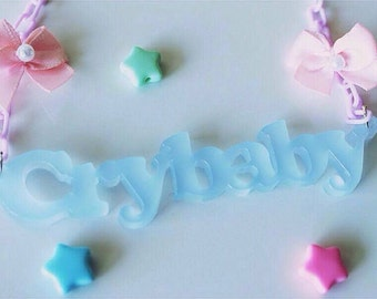 CRYBABY Blue Necklace (Made to Order)