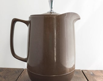 Vintage Thermos Pitcher - King-Seeley Thermos Pitcher, Insulated Coffee Pot, Rare Brown Color, Vintage Pitcher