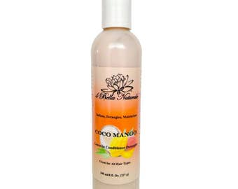 CocoMango Leave-In Conditioner Detangler, 8oz, Natural, Handcrafted, Organic, Hair Growth, Moisturizer, Detangler