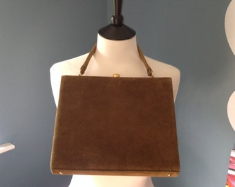 Ladies Vintage Suede Handbag