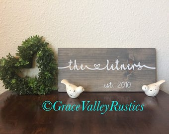 Farmhouse Sign/ Rustic Sign/ Family Sign/ Custom Sign/ Custom Farmhouse Sign/ Wedding Gift/ Home Decor/ Wall Hanging/ Wall Sign