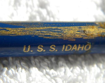 USS Idaho Lighter, commemorative lighter, cylinder lighter, vintage