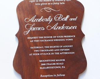 Wood Invitations (Color Printed)