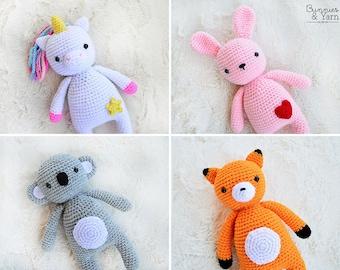 Nuru the Unicorn Amigurumi - PDF Crochet Pattern - Instant ...