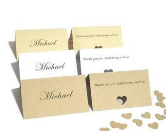 Personalised Wedding Name Cards | Personalised Place Cards | Rustic Wedding