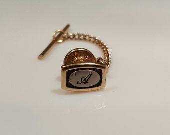 """Vintage Hickok tie tack with letter """"A"""""""