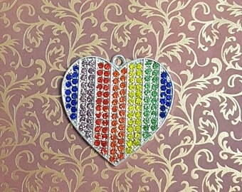 Rainbow heart Needle minder / Strong Magnets/ Needle Nanny / Needle Minder / Chart Magnets / Needle Holder/ Neodymium / Rare Earth